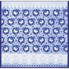 Бумага для скрапбукинга  'Гжель'   арт.CP02514  кружево голубое 30,5х30,5см   160г/м  одностор