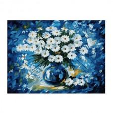 Картины по номерам Molly арт.G288 Ромашковый Блюз (23 Краски) 40х50 см