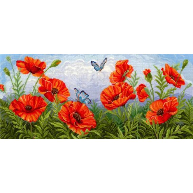Набор для вышивания 'Сделай своими руками' арт.ССР.Т-09 Торжество цветов. Маки 55х24 см
