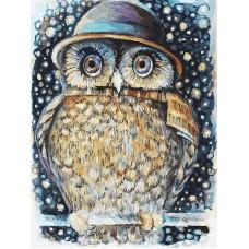 Живопись на картоне Белоснежка арт.БЛ.3073-CS Сова в шляпе 30х40 см