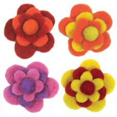 Войлок Цветы, теплые тона арт.DMS- 72-73827