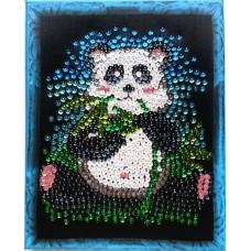 Набор 'Колор Кит'  картина из пайеток арт.КК.CM003 Панда 24х30