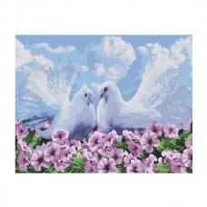 Картины по номерам Molly арт.EX5224 Пара голубей (20 Красок) 30х40 см