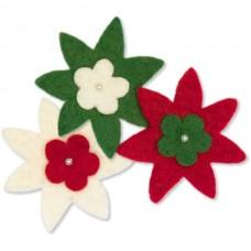 Войлок Цветы 'Звезда' арт.DMS- 72-08221 уп.3шт d-9,5см
