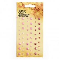 Полужемчужины клеевые Magic Hobby арт.MG PE 109  уп.54 шт
