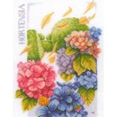 Набор для вышивания  арт.LANARTE-145977 'Сила гортензии' 20х27,5 см