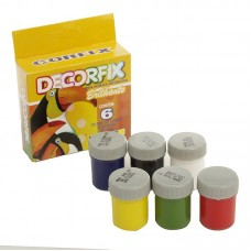 CFX.15015.1 Corfix Набор декор.красок Decorfix глянцевые 6шт по 15мл