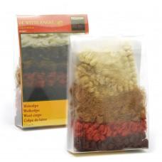 WIT.W70897 Набор кукольных волос DE WITTE ENGEL 100% волнистая шерсть, 25г, 5 цветов по 10см