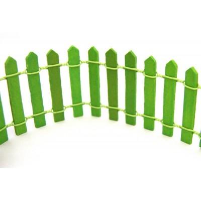 Забор деревянный арт.КЛ.23759 5х88 см, цв.зеленый