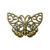 ПИМ9 Декоративная накладка для шкатулок уп.4 шт. бабочка большая 48х37 мм