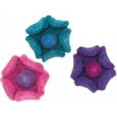 Войлок Цветки арт.DMS- 73307 чашечки 10х10 см