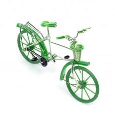 Велосипед арт.КЛ21375 из проволоки зеленый 19*13см